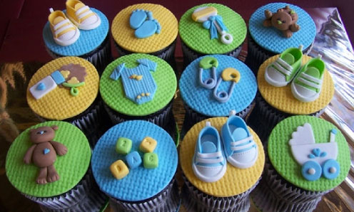 Cupcakes Decorados Para Baby Shower Baby Shower Favors